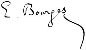Signature d'Élémir Bourges